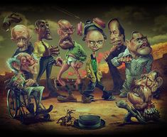 Breaking Bad caricatures capture the bad guys