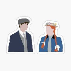 Anne With An E Stickers | Redbubble Bubble Stickers, Cool Stickers, Printable Stickers, Laptop Stickers, Sucubus Anime, Gilbert Blythe, Gilbert And Anne, Anne White, Anne With An E