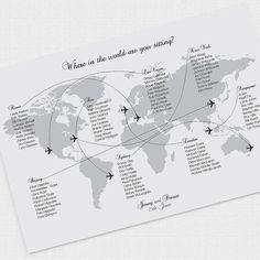 come fly with me wedding seating chart printable by idoityourself