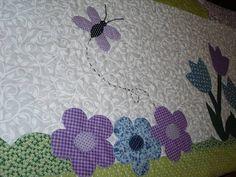 Bandô em patchwork. todos quiltado, com aplique caseadinho á máquina, tecido 100% algodão. Sobre medida