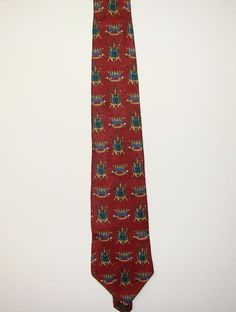 """Tommy Hilfiger Mens Brick Red 100% Italian Silk Dress Neck Necktie Tie 60"""" #TommyHilfiger #Tie"""