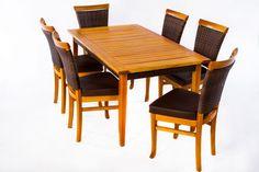 Mesa para Varanda Gourmet - Riviera  R$ 8.461,00  em 4x de R$ 2.115,25 sem juros  ou 10% de desconto à vista R$ 7.614,90 !     Conjunto composto por 6 cadeiras L48XP58XA95cm e 1 mesa L1,60XP90XA75cm;