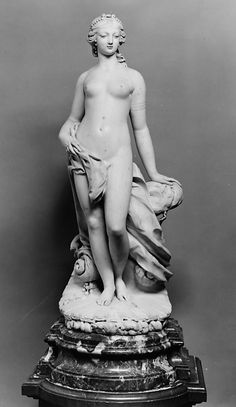 Venus. Attributed to Claude Desbatisse (died 1761). Date: 18th century. Culture: French. Medium: White marble Base, rouge de Flandre marble. Dimensions: H. 36-1/4 in. (92.1 cm) H. (base) 6 in. (15.2 cm). Classification: Sculpture.