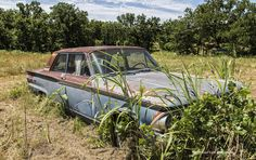 https://flic.kr/p/u5CBs1 | Rusted Ford Fairlane 500 | Abandoned car in a field along Route 66 in Oklahoma.