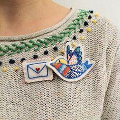 nas asas de um passarinho #jubela_joanacaetano #bordado #bordadosportugueses #embroidery #broderi