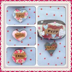 Hen Party Name Brooch
