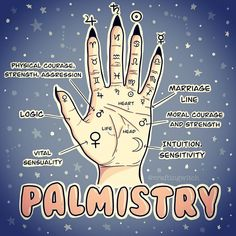 Here's a little palmistry cheat sheet. Have you ever had a palm reading? Wiccan Spell Book, Wiccan Witch, Witch Spell, Wiccan Spells, Magick, Grimoire Book, Witchcraft For Beginners, Green Witchcraft, Herbal Magic