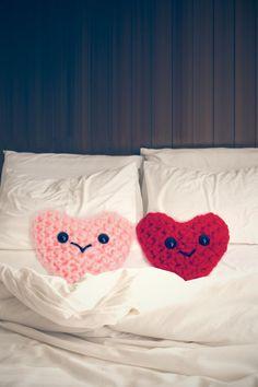 Wool heart art valentine
