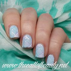 The Call of Beauty: Twinsie Tuesday: Gradient + Stamping in Purple and Teal