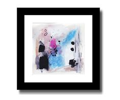 ORIGINAL ABSTRACT PAINTING Modern Contemporary Blue Art PLUS FREE ART PRINT #Abstract