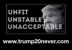 Trump is Unfit, Unstable & Unacceptable! He admits lies but he never spits out the overwhelming truth!