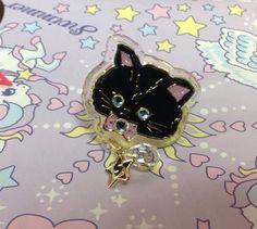 Twinkle Accessory Ring (Black Cat) from SWIMMER - Lolita Desu