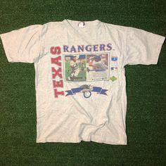 45128907dd1 AUTOGRAPHED True Vintage 1994 Juan Gonzalez Texas Rangers T-Shirt  fire   texas