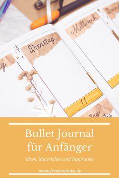 Du wolltest schon immer mal ein Bullet Journal führen hast aber Angst vor dem Aufwand? Dann schau bei mir vorbei. Ich bin auch Bullet Journal Anfängerin und zeige Dir meine bisherigen Bujo Projekte auf freuleinlinka.de Diy Blog, Angst, Tricks, Bujo, Vintage Designs, Bullet Journal Ideas, Tutorials, Projects