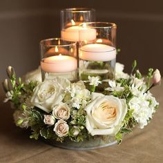 27 Beautiful Wedding Candle Centerpieces Ideas Page 9 of 27 – hochzeit ideen - Wedding Table Floating Candle Centerpieces, Candle Wedding Centerpieces, Wedding Table Centerpieces, Floral Centerpieces, Flower Arrangements, Wedding Decorations, Centerpiece Ideas, Wedding Ideas, Wedding Planning
