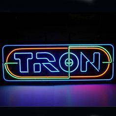 Tron Neon Sign Shop Open///How I love you neon signs , Real nice for my Home Bar Deco