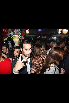 Socialite Andres Santo Domingo at an after party.