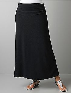 I love this skirt! I am hoping I can wear it for the rest of my pregnancy, but it is a fabulous skirt for anyone who likes a comfy skirt. The top can be rolled up too, or you can wear it as a dress! Totally worth the money.