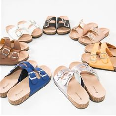 Birkenstock look alike sandals in WHITE New in box. Adorable summer sandals Shoes Sandals