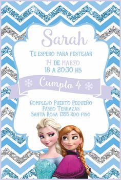 Invitación. Frozen. Elsa Birthday, Frozen Birthday Party, Frozen Party, 2nd Birthday Parties, 4th Birthday, Frozen Birthday Invitations, Diy Invitations, Frozen Theme, Anna Frozen