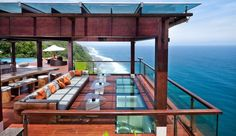 The Edge: Large wooden decks and comfy sun loungers are conducive to whiling away the day.