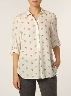 Ivory Dotty Floral Shirt - Dorothy Perkins
