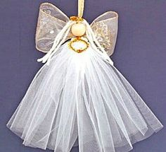 Christmas Angel Crafts, Diy Christmas Ornaments, Holiday Crafts, Christmas Crafts, Christmas Wishes, Xmas, Diy Gifts For Dad, Diy Gifts For Friends, Diy Angels