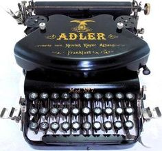 hard to find German typewriter ADLER nº 7 ca 1926 ,WORKS PERFECT  This machine is gorgeous. The sleek black finish is perfect. It is hard to believe it is 87 years old and still looks this good and is in perfect working order. Amazing!   ..rh