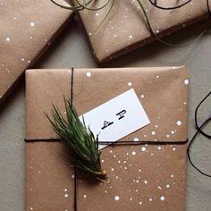 emballage cadeau original en papier marron
