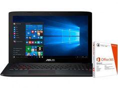 """Notebook Asus GL552VW Intel Core i5 - 8GB 1TB LED 15,6"""" + Pacote Office 365 com as melhores condições você encontra no Magazine Asualojadigital. Confira!"""