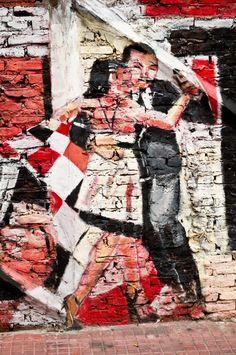 Tango argentino - San Telmo, Buenos Aires - street art