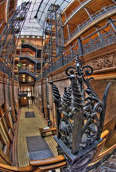 Bradbury Building, Los Angeles #Architecture #Interior