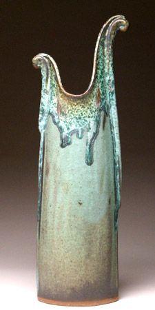 Pottery dragon  vase by Beth Mangum