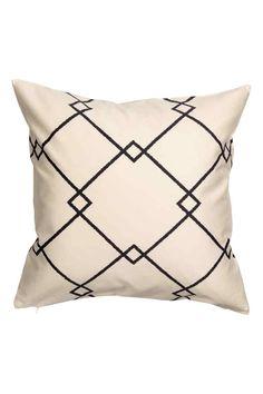 Wzorzysta poszewka na poduszkę: Poszewka na poduszkę z bawełnianego diagonalu we…