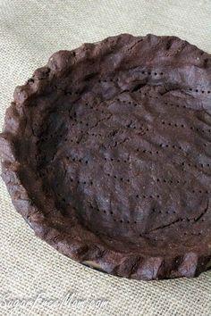 Chocolate Grain Free Pie Crust #lowcarb #sugarfree #nutfree