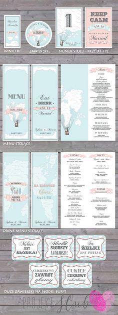 """projekt ŚLUB - zaproszenia ślubne, oryginalne, nietypowe dekoracje i dodatki na wesele: Pastelowe zaproszenia ślubne w stylu retro """"Z GŁOWĄ W CHMURACH 2"""""""