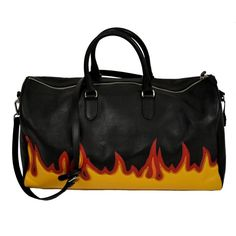 Fire Travel Bag (13,085 MXN) ❤ liked on Polyvore featuring bags and luggage
