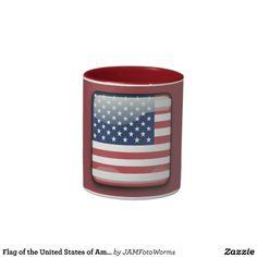 #Flag of the United States of America #Two-Tone Mug #JAMFotoWorms #Zazzle.com