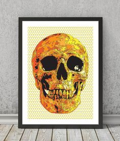 Skull print Skull poster Skull art Skull wall decor by VectorDome
