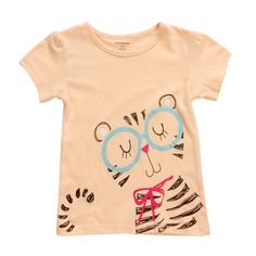 2015 New Little Maven Lovely Cat Baby Children Girl Cotton Short Sleeve T-shirt Top – Kiser Variety Shop