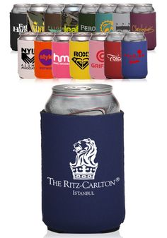 Shop custom personalized foldable neoprene premium koozies with your logo design. High-quality printing, cheap wholesale prices & free shipping on bulk orders.