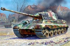 1945 Berlin Königstiger Georg Diers s.SS-Pz.Abt 503 - Andrey Zhirnov Tiger Ii, Tank Wallpaper, Classic Army, Military Drawings, Tank Armor, Ww2 Pictures, War Thunder, Armored Fighting Vehicle, Ww2 Tanks