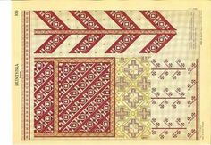 Folk Embroidery, Embroidery Patterns, Cross Stitch Borders, Romania, Blackwork, Projects To Try, Tapestry, Crafts, Loom