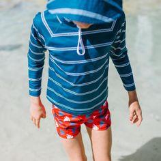 Boys Navy Rope Long Sleeve Rashie | Sandy Feet Australia