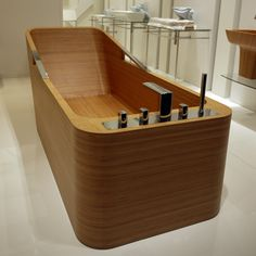The wooden bathtub is the best bathtub idea you can choose. This is because, the wooden bathtub can be used in your minimalist, modern, or another bathroom style. Because of that, most of the people try to choose wooden bathtub… Continue Reading → Wood Tub, Wooden Bathtub, Wooden Bathroom, Wood Bath, Bathroom Modern, Easy Woodworking Projects, Woodworking Plans, Woodworking Videos, Wood Projects