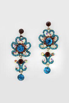 Celeste Earrings in Topaz on Sapphire on Emma Stine Limited