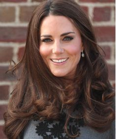 Kate Middleton's rich Medium Brown Natural Golden haircolor gives her elegant waves a royal flair! Get your own most flattering #hair #color to cover grays at home here: http://www.haircolorforwomen.com/breakthrough-hair-color-system-your-salon-doesnt-want-you-to-know-about-p/