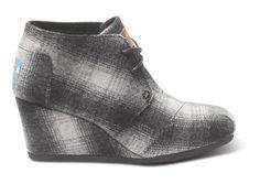 TOMS Desert Wedge Plaid Wool  US $83.95