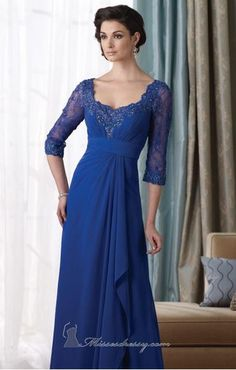 Cheap mother of bride, Buy Quality mother of bride dress directly from China mother of the bride Suppliers: 2017 Newest Royal Blue Half Sleeves Long Evening Dress Beaded Pleat Chiffon Mother of the Bride Dresses A-line vestidos Mother Of Groom Dresses, Bride Groom Dress, Mothers Dresses, Bride Gowns, Mother Of The Bride, Mob Dresses, Bridal Dresses, Bridesmaid Dresses, Party Dresses