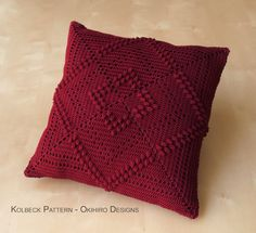 Kolbeck Pattern 12 Crochet Square Pillow MADE от okihirodesigns